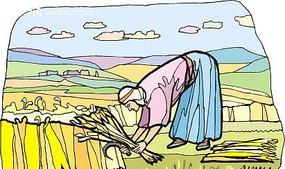 割麦子人物插图