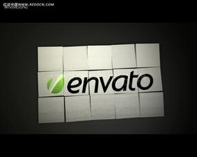 纸张背景公司标志视频