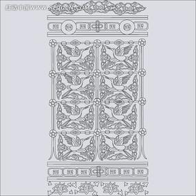 古典仙鹤线稿图