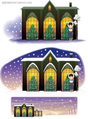 圣诞夜景画