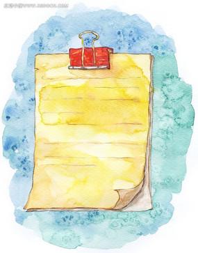 水彩夹板纸张背景