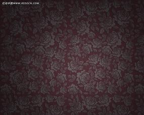 红底花卉壁纸