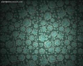 蓝底花卉壁纸
