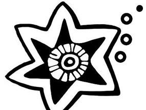 五角星简约图案psd素材