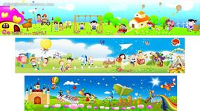 幼儿园墙体绘画素材