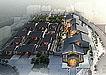 岭南建筑鸟瞰图3d模型(水墨风格)