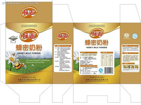 奶粉包装 蜂蜜奶粉 食品包装图片(金色)