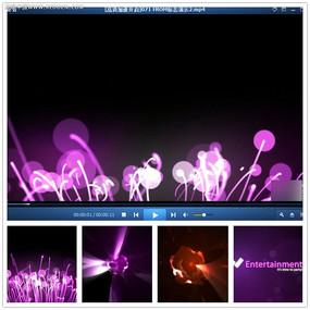 紫色植物光效企业视频