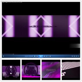 紫色光效文字片头视频