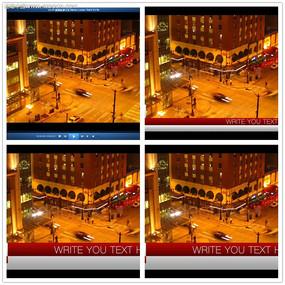 国外夜景新闻视频模板