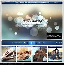 国外浪漫婚礼片头视频