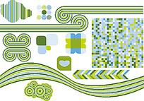 清新抽象几何花纹图案