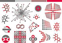 圆点几何图形图案