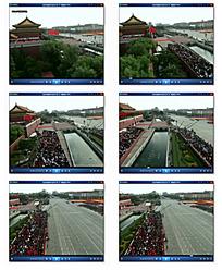国庆阅兵夹道人群视频