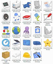 卡通磨砂质感网页图标模板下载