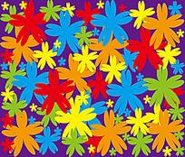 多彩小花背景连续图案