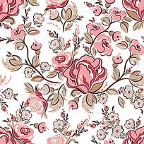手绘花背景图案