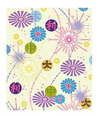 矢量日本花纹背景