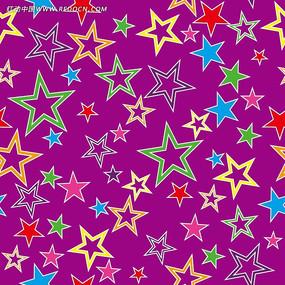 矢量五角星花纹背景底纹
