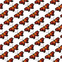 红色蝴蝶背景连续图案