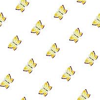 黄色蝴蝶背景连续图案