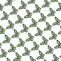 绿色蝴蝶背景连续图案