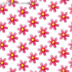 矢量粉色花朵背景底纹素材