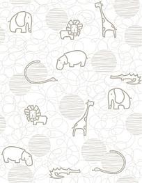 矢量动物黑白花纹背景素材
