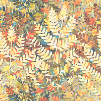 矢量树叶油画花纹EPS素材