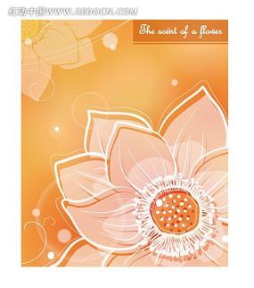 粉色抽象花卉底纹