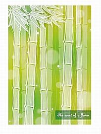 竹子竹叶底纹背景模板