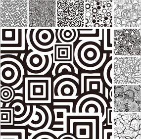 黑白幾何型背景圖案