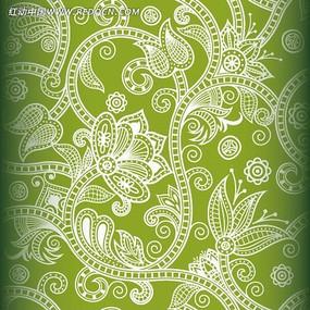 精美线描花纹背景图案
