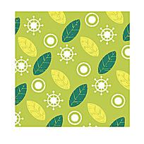 绿色树叶花纹底纹素材