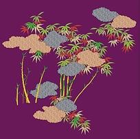 竹子花边花纹素材