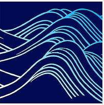 传统海浪高山中国风素材