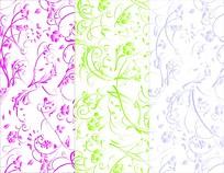 素雅背景花纹设计