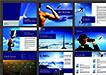 蓝色企业文化宣传册模板