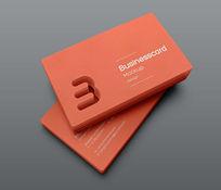橙色名片VI模板PSD素材