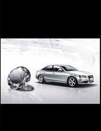 奥迪A4新车展示海报PSD分层素材