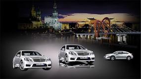 梅赛德斯奔驰汽车PSD海报设计