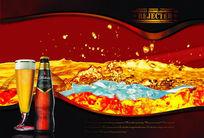 蓝带啤酒广告PSD分层模板【2】
