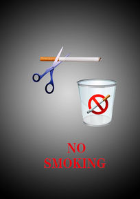 创意禁烟海报设计psd素材