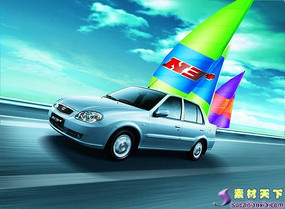 夏利N3+汽车广告PSD分层模板