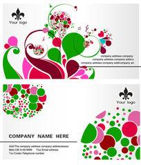 创意国外名片设计模板psd素材