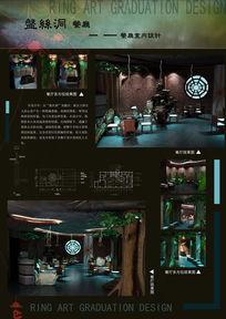 餐厅毕业设计展板PSD素材