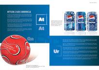 可乐饮料英文画册PSD分层素材