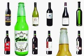各种酒瓶PSD素材
