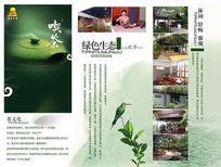 茶文化三折页宣传单PSD海报模板