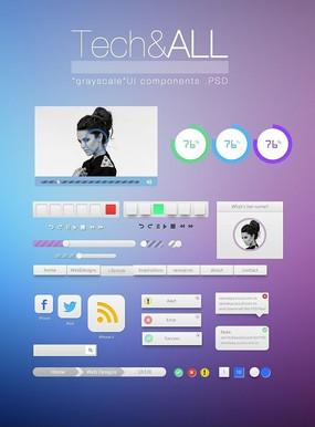 酷炫网页元素设计PSD